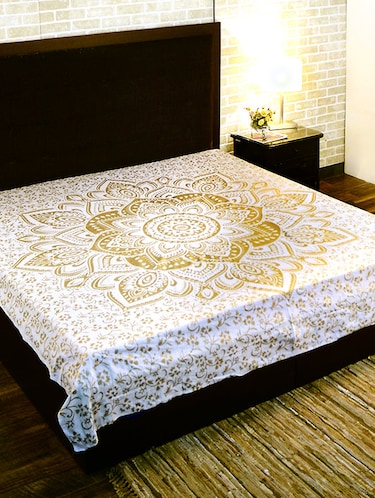 Cotton Traditional Printed Double Bed Sheet/Tapestry - 14452136 - Standard Image - 1