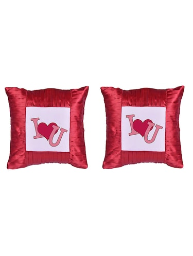 "Square Shape "" Love"" Printed Cushions Cover - 14458324 - Standard Image - 1"