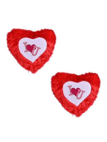 "Heart Shape ""Love"" Printed Cushions Cover - 14458334 - Standard Image - 1"