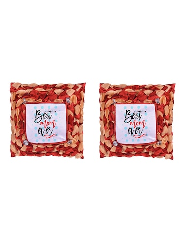 "Square Shape ""Best Mom Ever"" Printed Cushions Cover - 14458520 - Standard Image - 1"