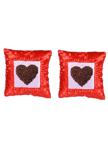 "Square Shape ""Heart shape"" Printed Cushions Cover - 14458554 - Standard Image - 1"