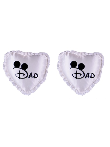 "Heart Shape ""DAD Print"" Printed Cushions Cover - 14458633 - Standard Image - 1"