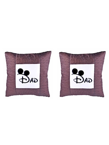 "Square Shape ""DAD print"" Printed Cushions Cover - 14458634 - Standard Image - 1"