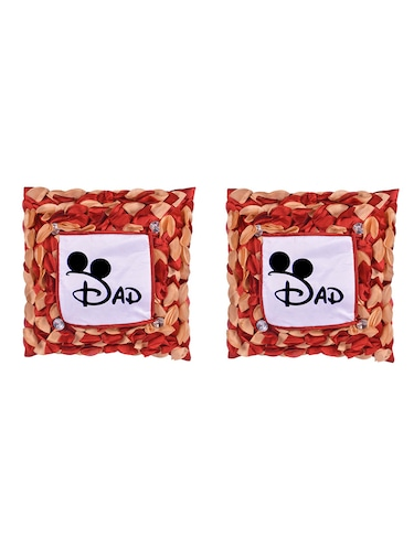 "Square Shape ""DAD print"" Printed Cushions Cover - 14458646 - Standard Image - 1"