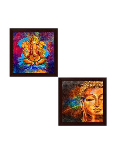 Set Of 2 wooden frames Painting - 14459415 - Standard Image - 1