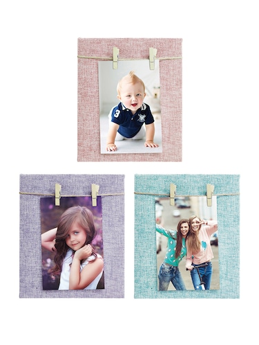 Pack of 3 Wooden Table Top & Wall hanging Frames - 14459445 - Standard Image - 1