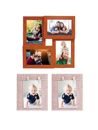 Pack of 3 Wooden Table Top & Wall hanging Frames - 14459500 - Standard Image - 1