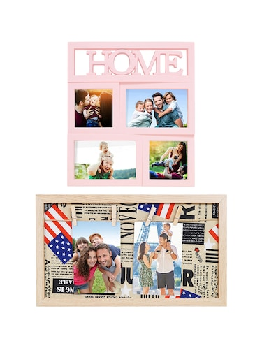 Pack of 2 Wooden Table Top & Wall hanging Frames - 14459517 - Standard Image - 1