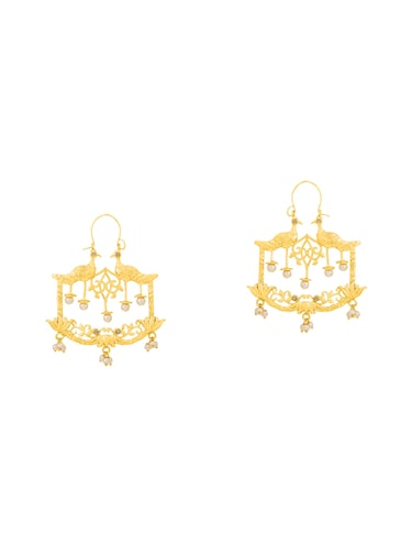gold metal other earring - 14460536 - Standard Image - 1