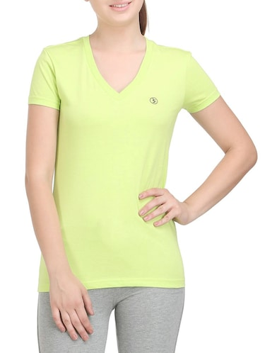 green cotton tee - 14462204 - Standard Image - 1