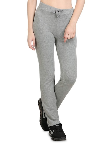 Grey cotton track pant - 14462291 - Standard Image - 1