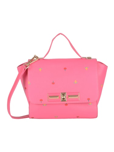 pink leatherette  regular sling bag - 14464099 - Standard Image - 1