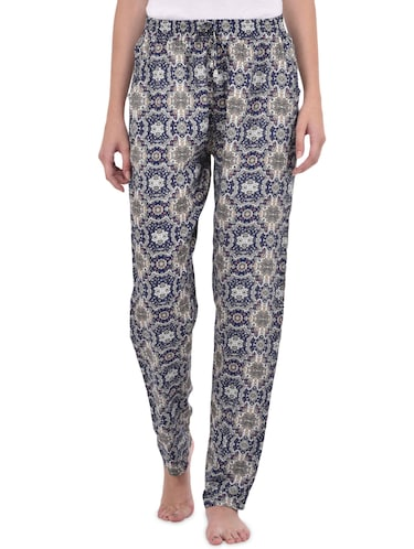 blue printed cotton pajama - 14464496 - Standard Image - 1