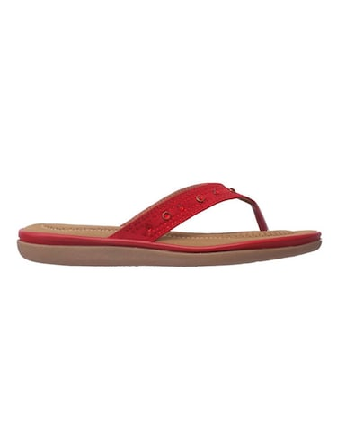 red leatherette slippers - 14464603 - Standard Image - 1