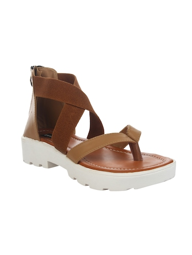 tan closed back sandal - 14465690 - Standard Image - 1