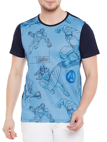 blue cotton character  t-shirt - 14467266 - Standard Image - 1