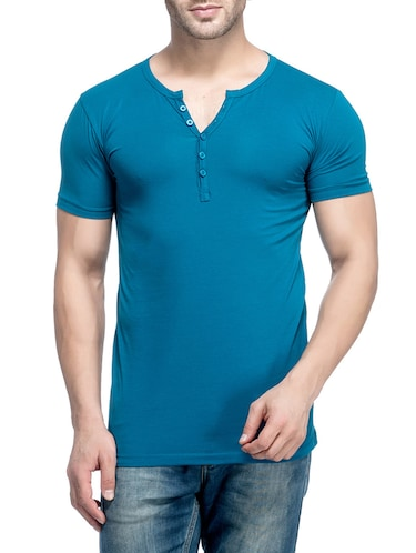 blue cotton  t-shirt - 14468032 - Standard Image - 1