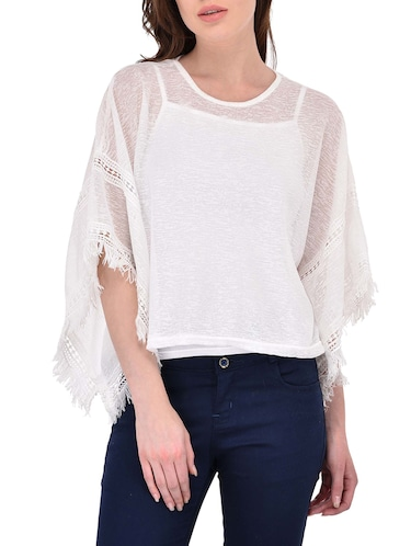 White bell sleeved top - 14468212 - Standard Image - 1