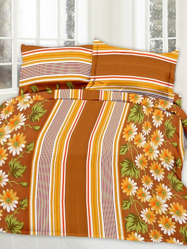 Cotton Printed Double Bed Sheet With 2 Pillow Covers - 14469065 - Standard Image - 1