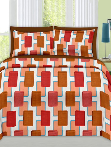 Check Print Cotton Double Bedsheet with 2 Pillow Covers - 14469086 - Standard Image - 1