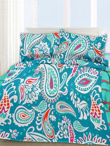 Cotton Printed Double Bed Sheet With 2 Pillow Covers - 14469094 - Standard Image - 1