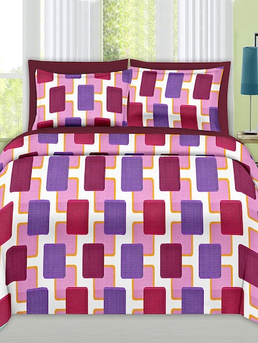 Check Print Cotton Double Bedsheet with 2 Pillow Covers - 14469102 - Standard Image - 1