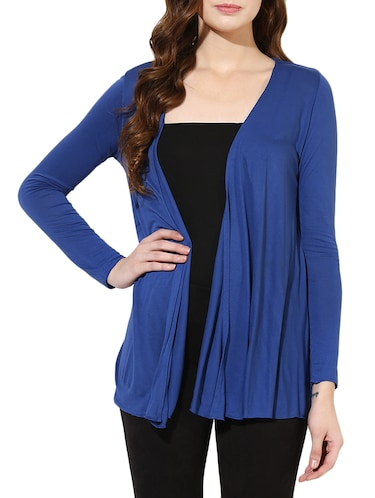 blue cotton shrug - 14469137 - Standard Image - 1