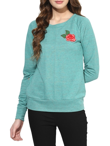 blue cotton sweatshirt - 14469154 - Standard Image - 1