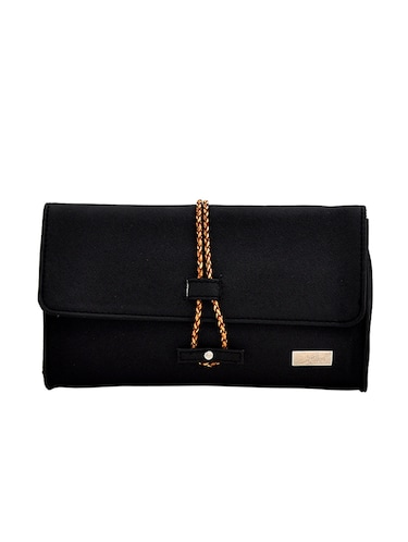 black leatherette regular clutch - 14469458 - Standard Image - 1