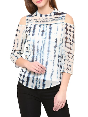 White tie and dye top - 14469614 - Standard Image - 1