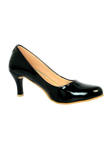 black polyester slip on pumps - 14469811 - Standard Image - 1