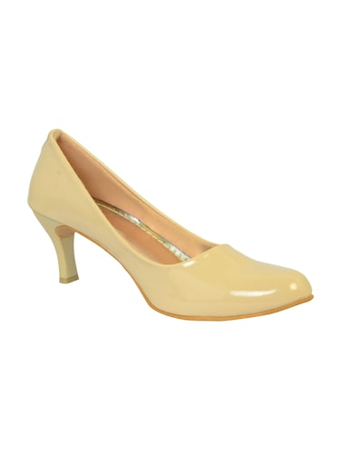 beige polyester slip on pumps - 14469813 - Standard Image - 1