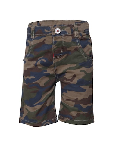 green cotton shorts - 14472882 - Standard Image - 1