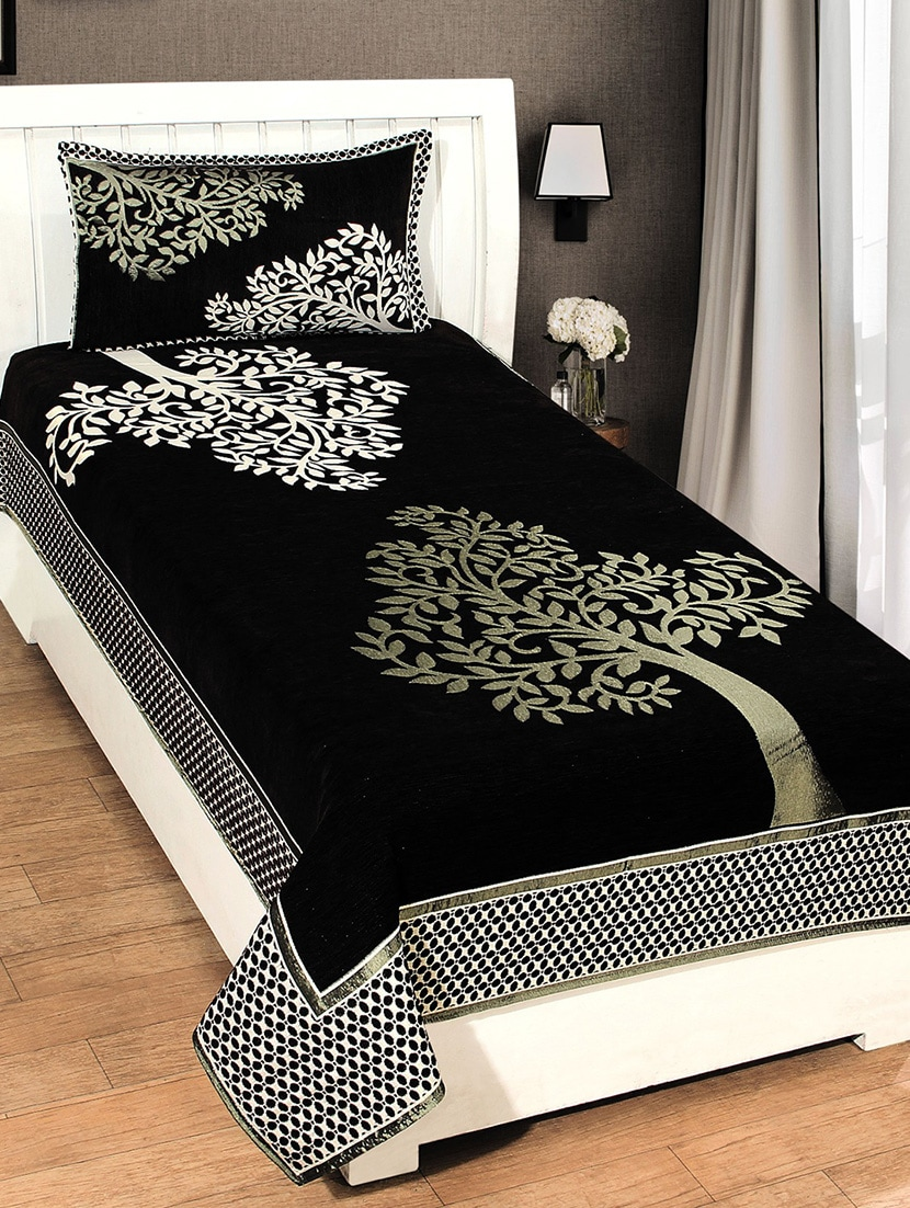 Buy Single Chenille Bed Cover With 1 Pillow Cover By Homesense