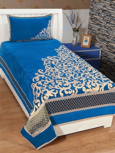 SINGLE CHENILLE BED COVER WITH 1 PILLOW COVER - 14473528 - Standard Image - 1