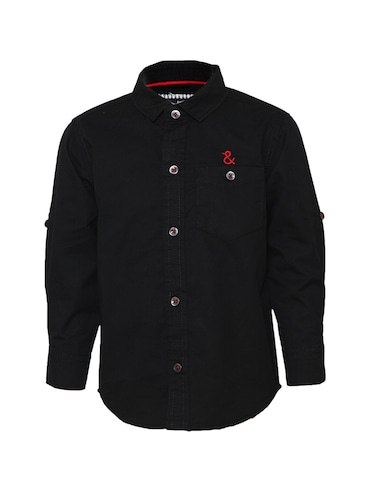 black cotton shirt - 14474190 - Standard Image - 1