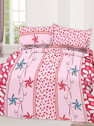 Cotton Printed Double Bed Sheet With 2 Pillow Covers - 14474403 - Standard Image - 1