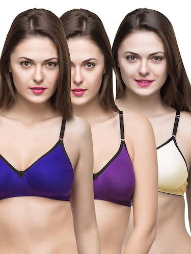 set of 3 multi colored bras - 14474861 - Standard Image - 1