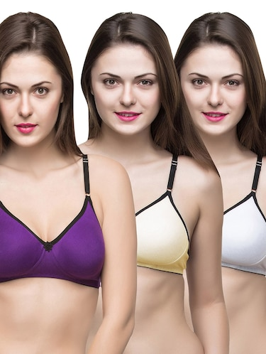 set of 3 multi colored bras - 14474871 - Standard Image - 1