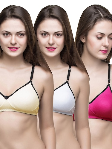 set of 3 multi colored bras - 14474872 - Standard Image - 1