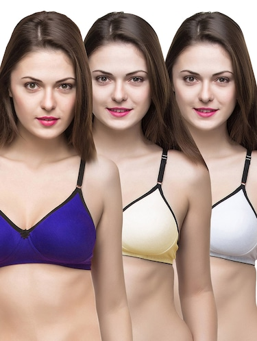 set of 3 multi colored bras - 14474874 - Standard Image - 1