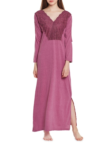 pink cotton gown - 14475009 - Standard Image - 1