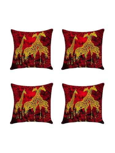 Set of 4 Digital printed cushion cover by Ambbi Collections - 14476015 - Standard Image - 1