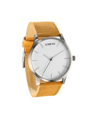 94bdcd317a33 Buy Lorenz Mk-1055a White Dial Corporate Look Casual Fit Analog ...