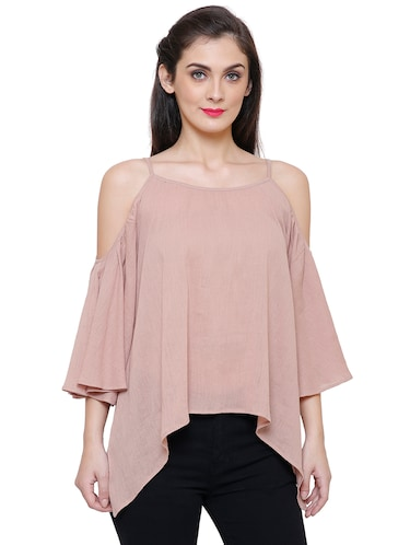 beige rayon casual top - 14477741 - Standard Image - 1