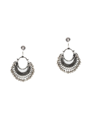 multi colored metal chandballi earrings - 14478432 - Standard Image - 1