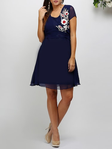 a-line embroidered dress - 14478505 - Standard Image - 1