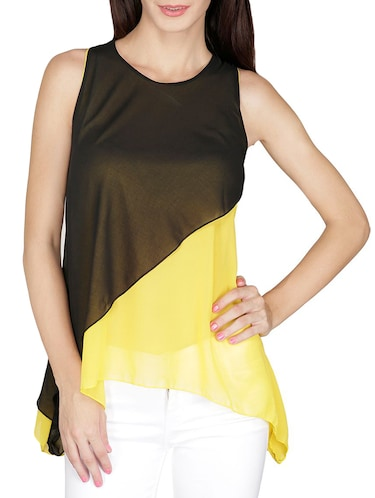 yellow Layered top - 14479543 - Standard Image - 1