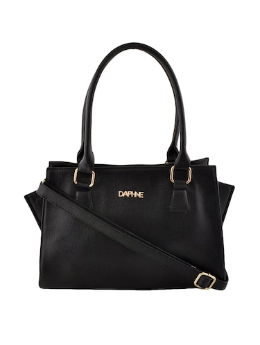 black leatherette  regular handbag - 14479887 - Standard Image - 1