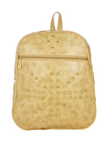 beige leatherette  backpack - 14481319 - Standard Image - 1